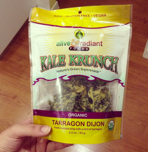 A bag of kale chips I mysteriously found in my pantry one day...