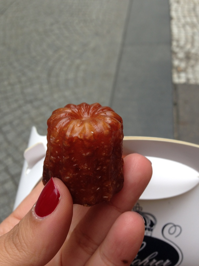 A canelé is a French desert from Bordeaux. It's everything you want - a chewy, sweet, custardy, rum-based treat that will leave you daydreaming.