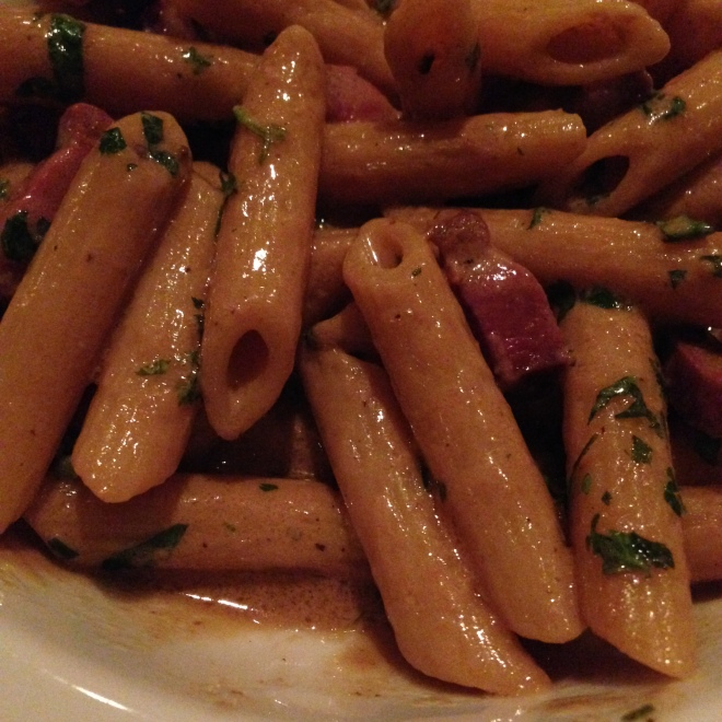 Keep doin' what you're doin', penne